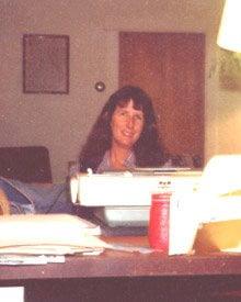 Lucia At Desk