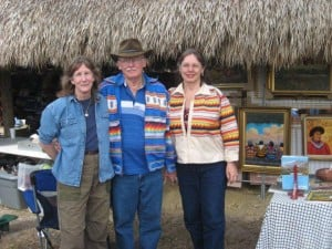 Artist Gauy LaBree, his wife Pat and I at the annual Seminole Rodeo and Field Day on thed Brighton Reservation in Florida.